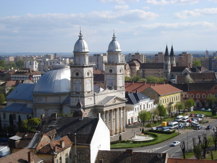Catedrala Romano-Catolica din Satu Mare, catedrale si biserici Satu-Mare, Sky Trip