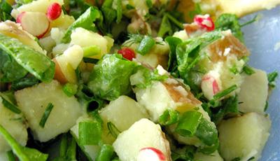 Salata de cartofi si ridichi