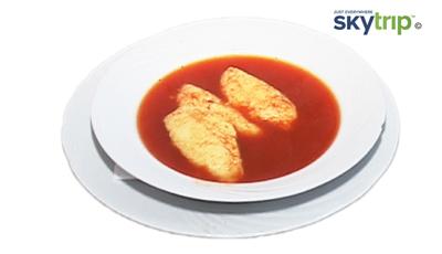 Supa de rosii cu galuste de gris